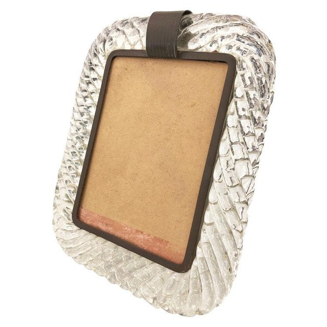 Mid 20th Century Venini Murano Glass Picture Frame For Sale - Image 5 of 5