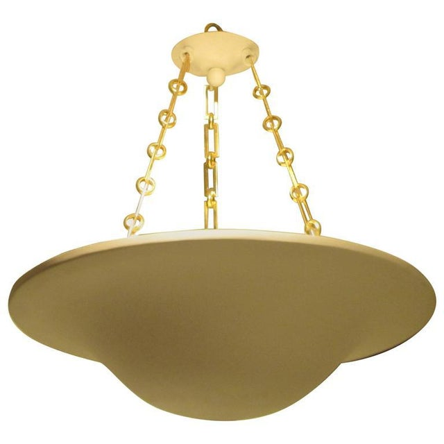 Brass Custom Plaster Chandelier with Brass Chain For Sale - Image 7 of 7