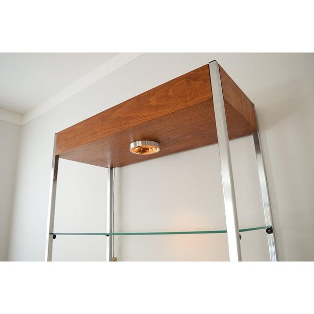 Mid-Century Glass Etagere Shelving Unit - Image 6 of 9