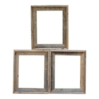 Rustic Reclaimed Wood Frames - Set of 3 For Sale