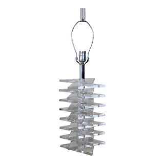 Stacked Lucite Slab Lamp