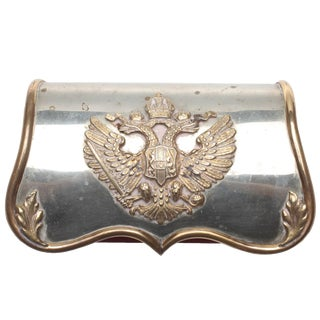 Imperial Russia Box With Silver Imperial Emblem For Sale
