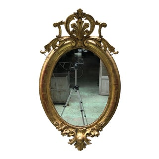 19th Century Ovale Mirror South of France For Sale