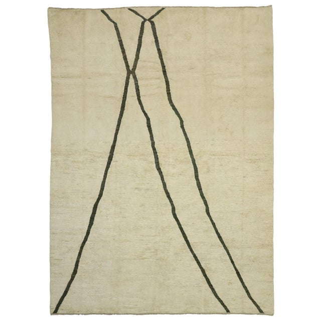 80523 Contemporary Moroccan Area Rug - 10'02 X 13'10 For Sale - Image 9 of 10