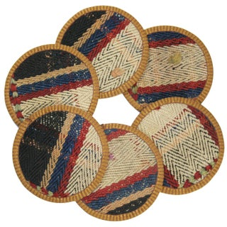Rug & Relic Yolgeçen Kilim Coasters - Set of 6
