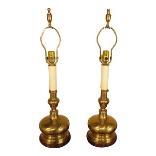 Frederick Cooper Brass Table Lamps - a Pair For Sale