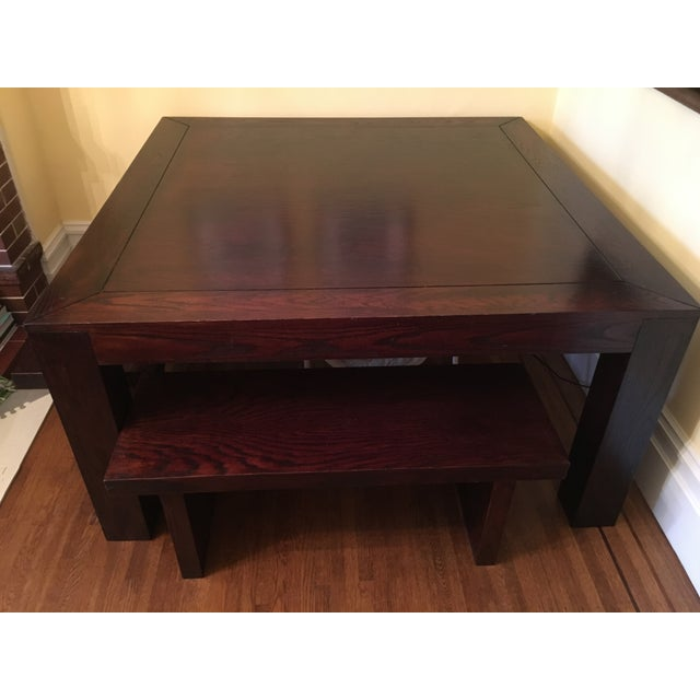 Hand Crafted Oak Table & Benches - Image 5 of 5