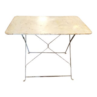 Vintage French Blue Metal Side Table