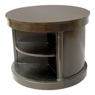 Ebonized Drum Occasional Table by Michael Taylor for Baker For Sale
