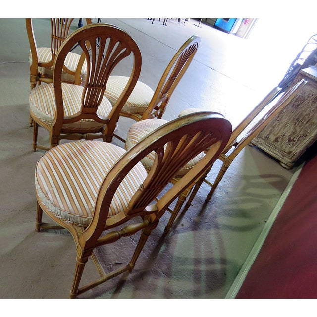 Louis XV Style Dining Side Chairs - Set of 6 For Sale In Philadelphia - Image 6 of 10