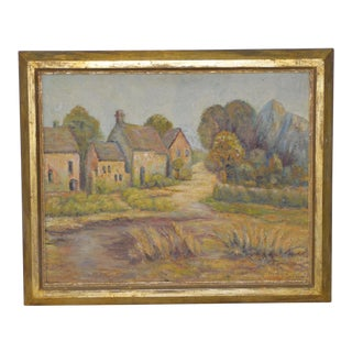19th Century American Country Village Landscape For Sale