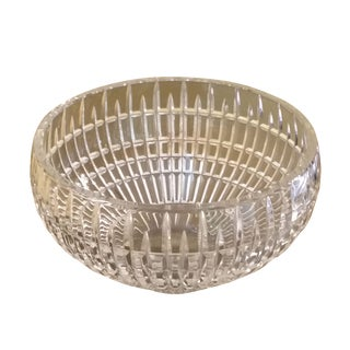 Fine Leaded Crystal Large Bowl For Sale