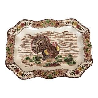 Rare English Turkey Platter For Sale