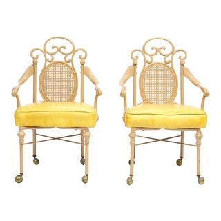 1940's French Iron Chairs, a Pair For Sale