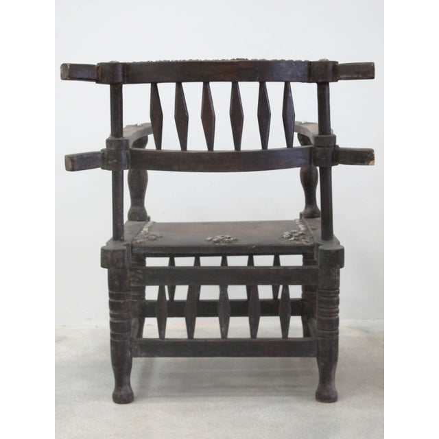 1950s Rare 1950s Ashanti Throne Chair For Sale - Image 5 of 10