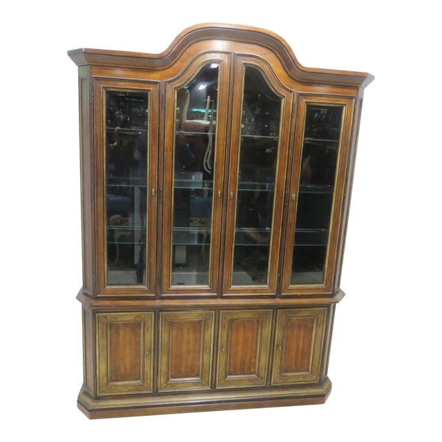Drexel Heritage Paint Decorated China Cabinet - Image 1 of 11
