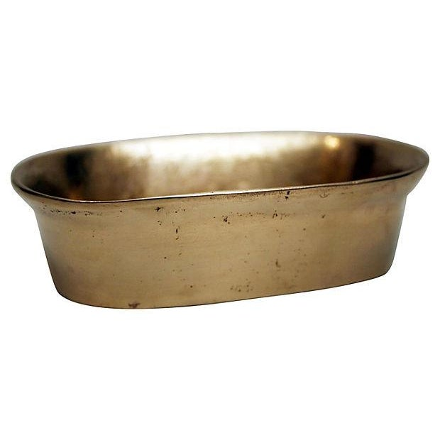 Sculptural Brass Soap Dish - Image 1 of 4