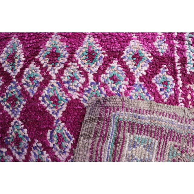 "Vintage Boujad Moroccan Rug - 6'2"" x 9'10"" For Sale - Image 4 of 4"