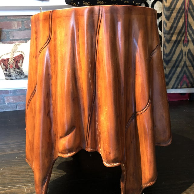 Traditional Bunny Williams Mini Skirt Drinks Table For Sale - Image 3 of 6