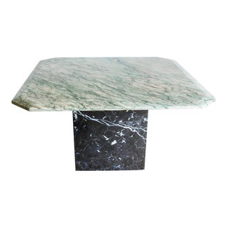 1960s Italian Marble Two Piece Pedestal Coffee Table For Sale