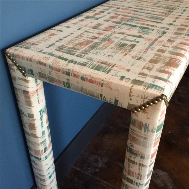 Upholstered Sofa Table - Image 4 of 11