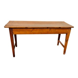 20th Century English Traditional Wood Entry Table For Sale