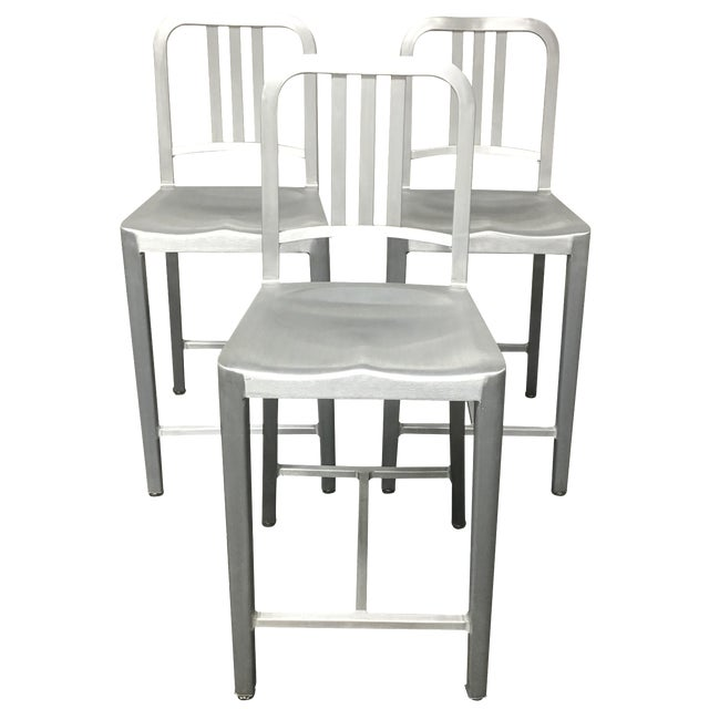 Emeco Counter Stools - Set of 3 - Image 1 of 10