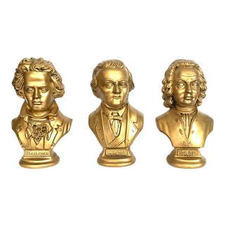 Vintage Beethoven Wagner and Bach Bust - Set of 3 For Sale