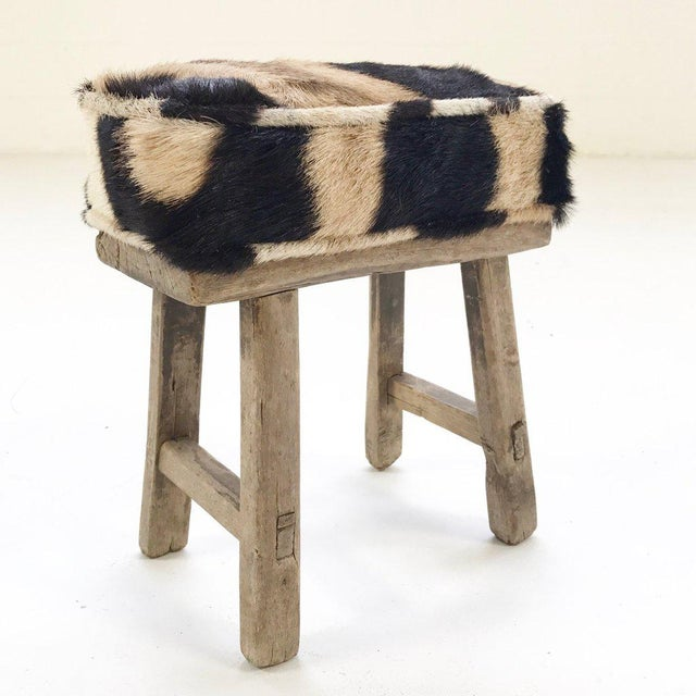 Forsyth Mini Bench with Zebra Hide Cushion - Image 3 of 4
