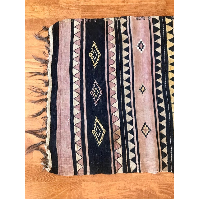 1960s Antique Turkish Kilim Rug-2′3″ × 6′3″ For Sale In Raleigh - Image 6 of 10