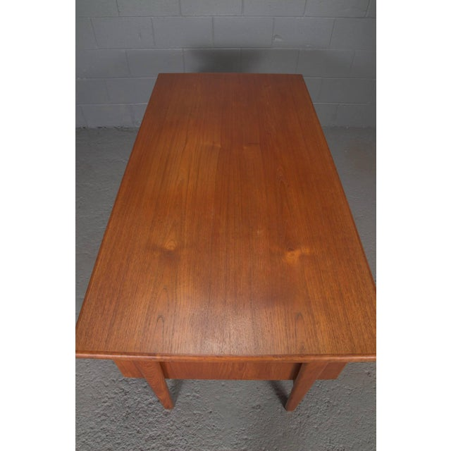 Mid-Century Modern Danish Teak Desk With Floating Top by Kai Kristensen For Sale - Image 3 of 10