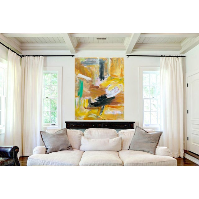 """""""Eagle's Nest"""" by Trixie Pitts XL Painterly Abstract Expressionist Oil Painting For Sale In Nashville - Image 6 of 13"""
