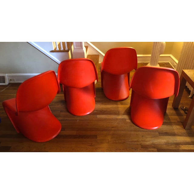 Verner Panton for Vitra Chairs- Set of 4 For Sale - Image 9 of 11