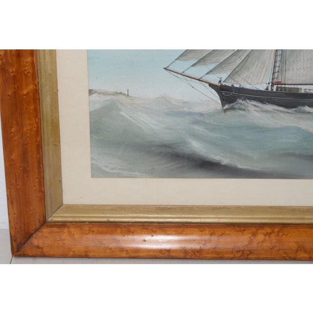"""Early 20th Century Original Watercolor of the British Ship """"Kate"""" Out at Sea C.1890s to 1910 For Sale - Image 5 of 11"""