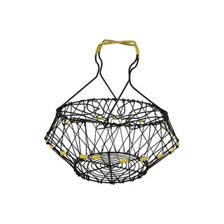 French Wire Egg Convertible Basket For Sale