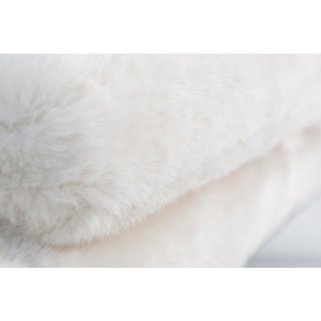 Faux Fur Settee by Lawrence Peabody - Image 6 of 10