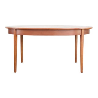 Mid-Century Modern Inset Leaf Dining Table For Sale