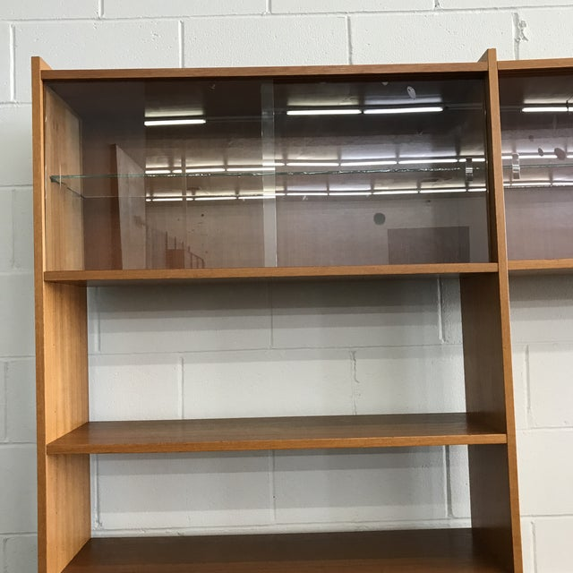 Brown Danish Modern Freestanding Wall Unit For Sale - Image 8 of 11