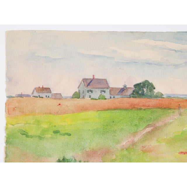 1921 South Harpswell Maine Egbert Cadmus Watercolor Painting For Sale - Image 4 of 6
