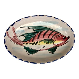 Vietri Hand Painted Fish Platter