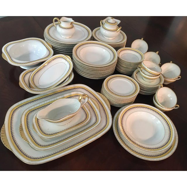 Antique Limoge China Set - 76 Pieces - Image 2 of 4