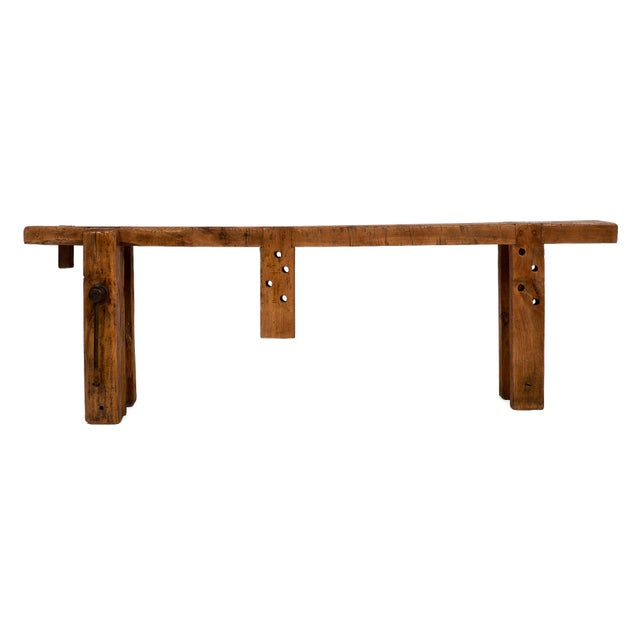 Brown French Antique Workbench For Sale - Image 8 of 10