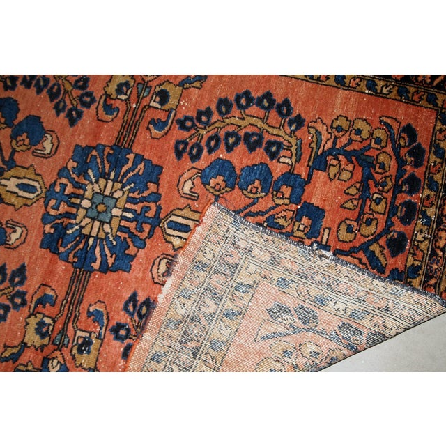 1920s, Handmade Antique Persian Lilihan Rug 4.9' X 6.7' For Sale - Image 4 of 7