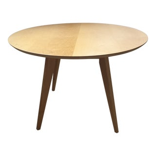 Jens Risom Knoll Round Maple Dining Table
