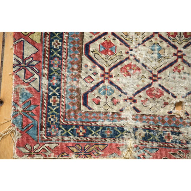 "Antique Fragmented Caucasian Prayer Square Rug - 2'10"" x 3'11"" For Sale In New York - Image 6 of 10"