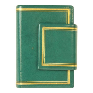 Us Internal Revenue Stamp Playing Cards in Green Leather Casing - 2 Pieces