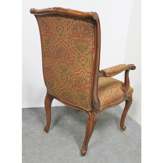 EJ Victor Louis XV Carved Walnut Chairs by EJ Victor - a Pair For Sale - Image 4 of 8