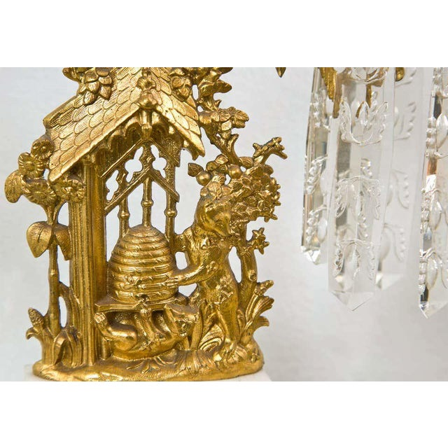 Gold Set of Three French Belle Époque Style Candelabras For Sale - Image 8 of 11