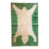 Image of 1960s Vintage Wool Polar Bear Rug - 3′10″ × 5′8″ For Sale
