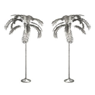 Aluminum Palm Trees by Arthur Court - a Pair For Sale